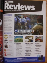 PC Zone Issue 225 Reviews Page