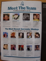 PC Zone Issue 225 Team Page