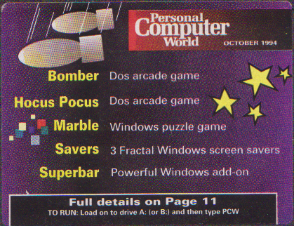 PCW_October1994_Disk1_label